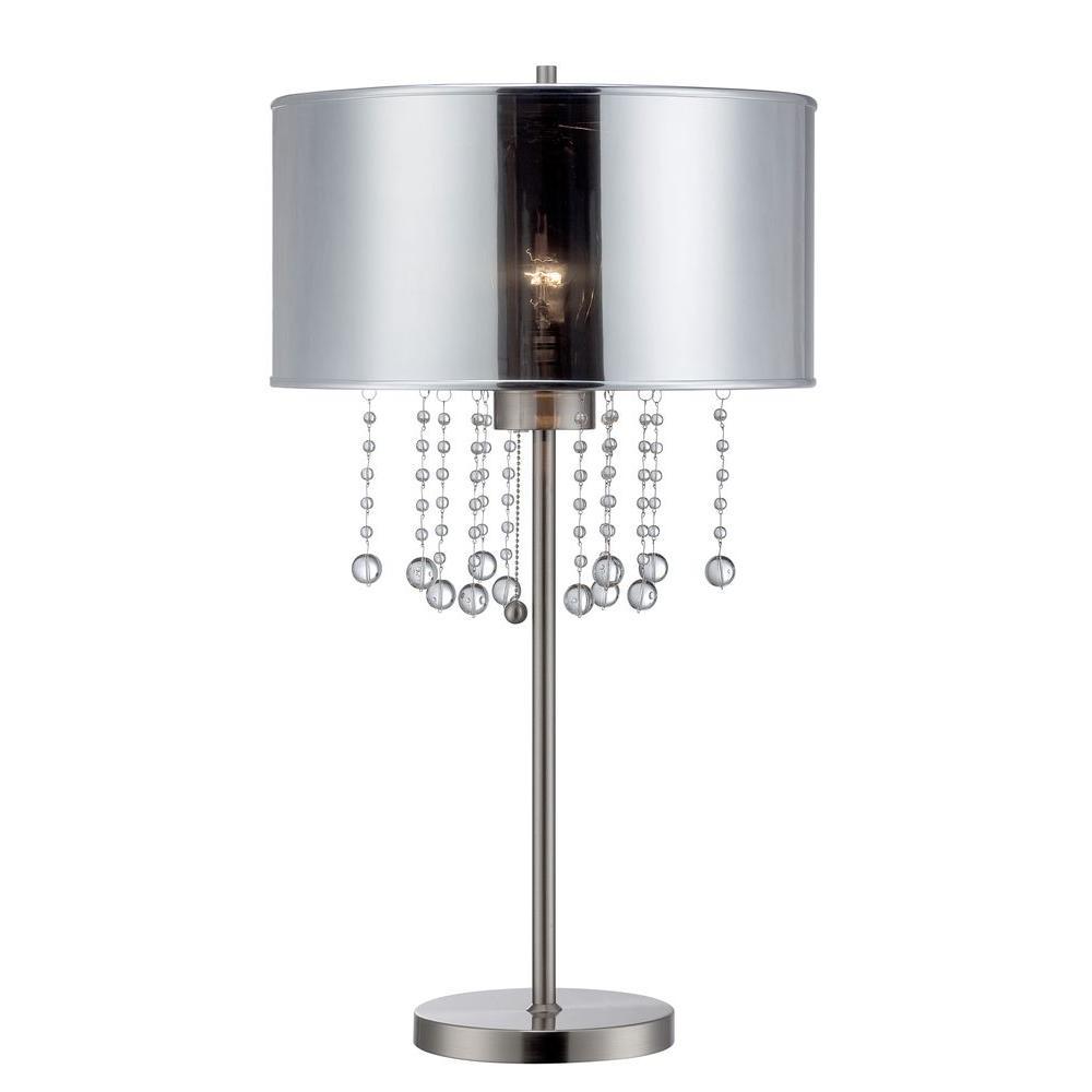 Designer 30 in. Chrome CFL Table Lamp