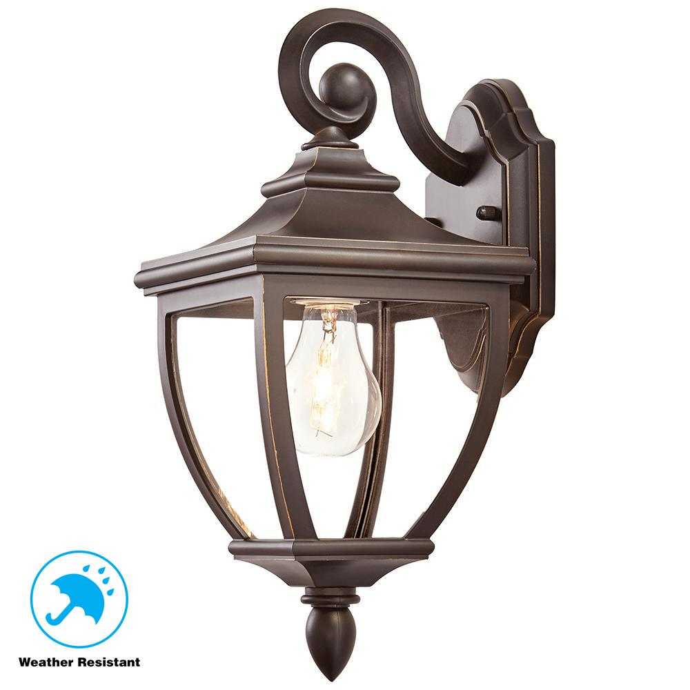 Home Decorators Collection 1 Light Oil Rubbed Bronze Outdoor 6 5 In