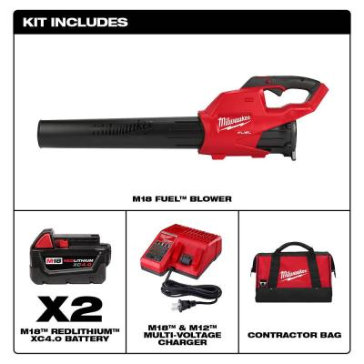 M18 FUEL 120MPH 450CFM 18-Volt Lith-Ion Brushless Cordless Handheld Blower w/ Two 4.0Ah Batteries Charger Contractor Bag