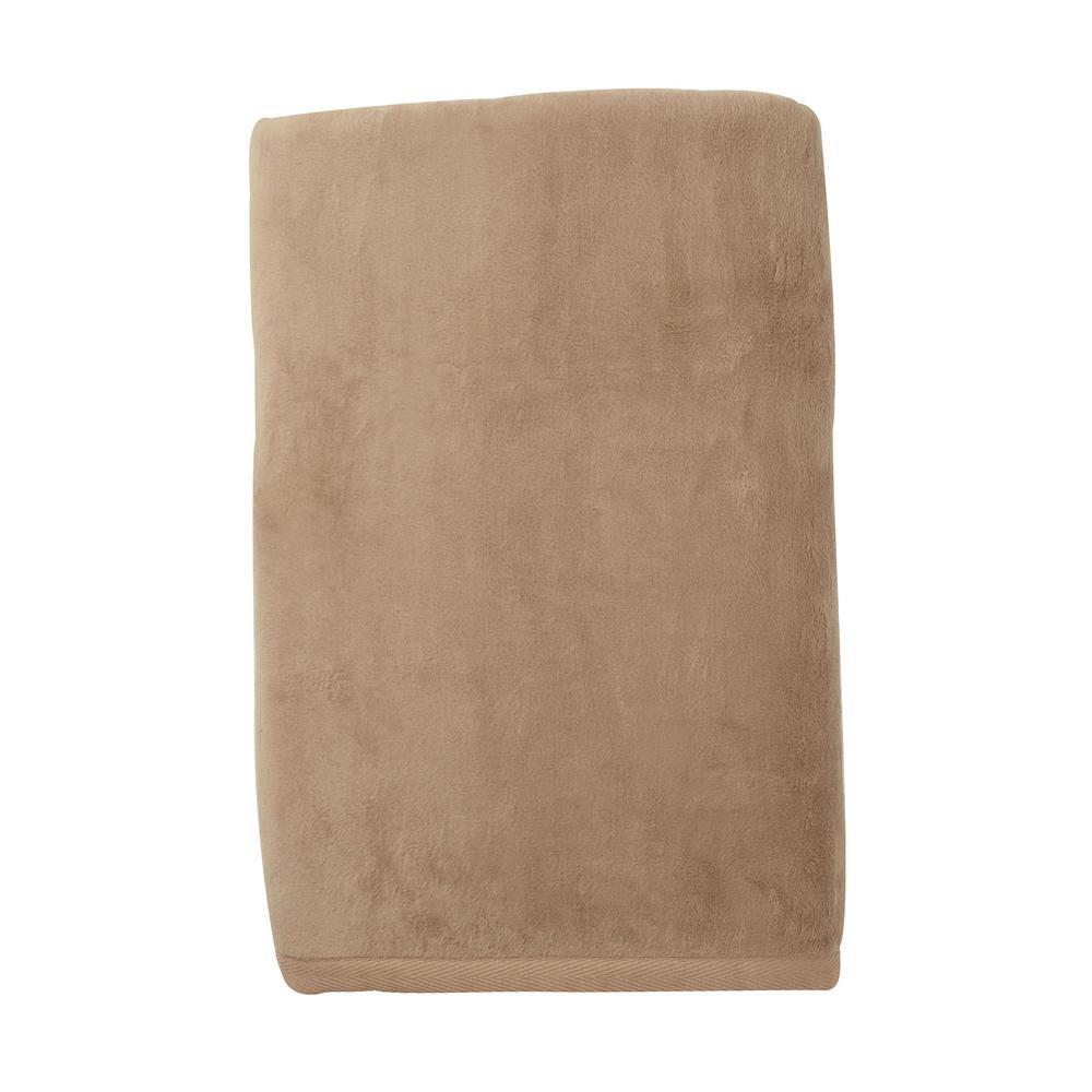 Cotton Fleece Suede Queen Woven Blanket