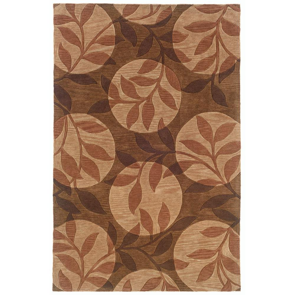 LR Resources Inspirational Floral Design Brown 7 ft. 9 in. x 9 ft. 9 in. Indoor Area Rug-DISCONTINUED