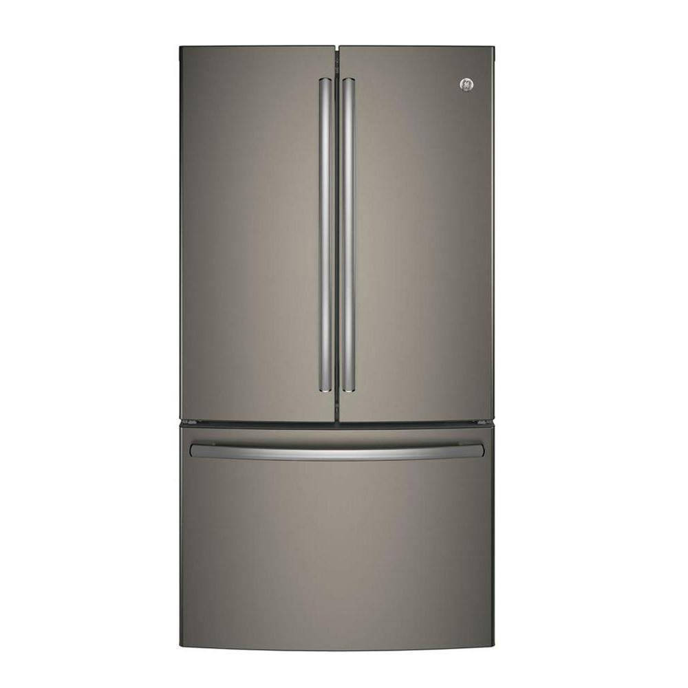GE 36 In. W 28.5 Cu. Ft. French Door Refrigerator In Stainless  Steel GNE29GSKSS   The Home Depot
