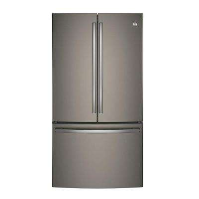 36 in. W 28.5 cu. ft. French Door Refrigerator in Slate, Fingerprint Resistant