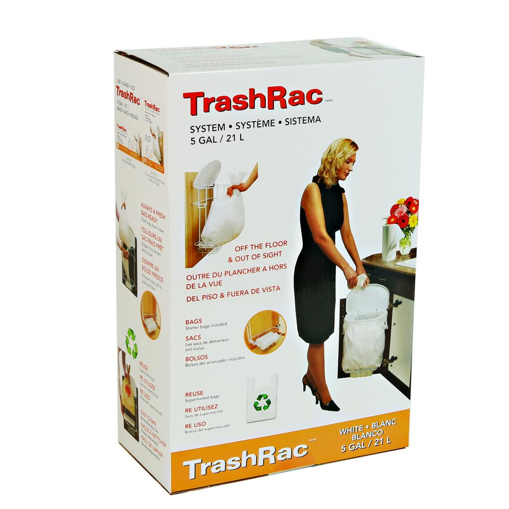 Trashrac 5 Gal. Complete Waste System with Starter Bags