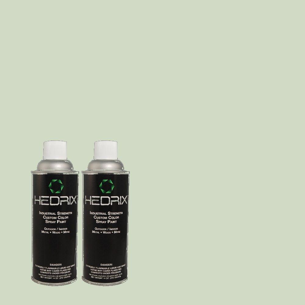 Hedrix 11 oz. Match of B-670 Mesa Verde Semi-Gloss Custom Spray Paint (2-Pack)