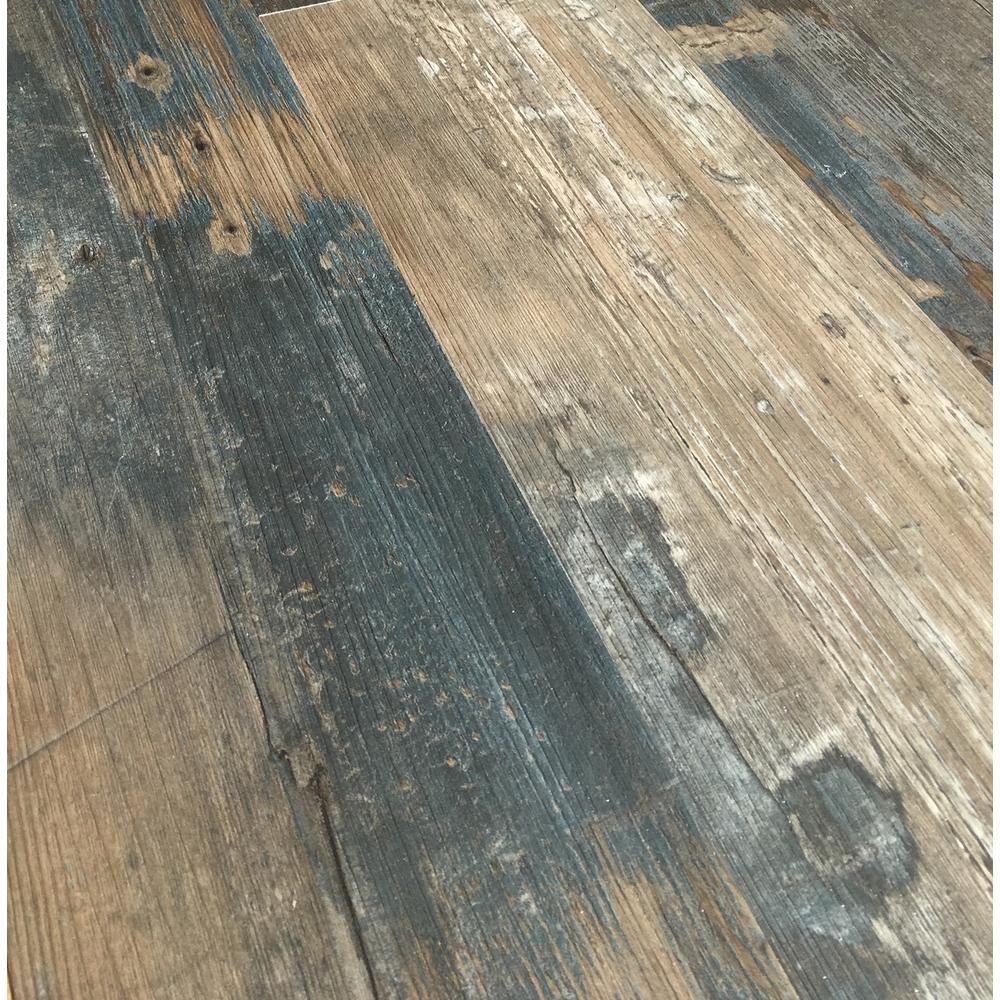 Deco Products COLORS Floor and Wall DIY Swing Wood Aged 6 in. x 36 in. Multi-Tonal Glue Down Luxury Vinyl Plank (30 sq. ft. / case)