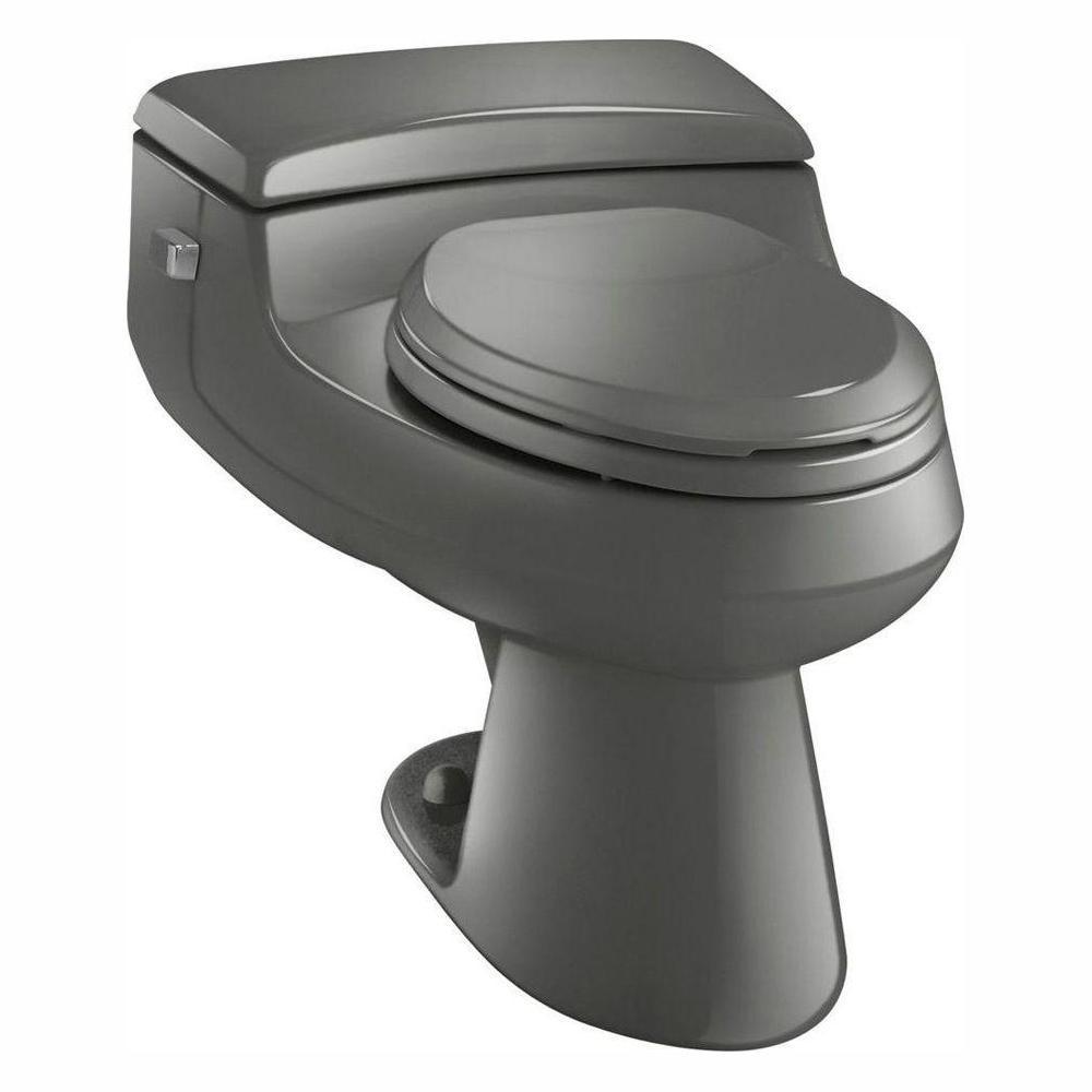 Strange Kohler San Raphael Comfort Height 1 Piece 1 0 Gpf Single Flush Elongated Toilet In Thunder Grey Seat Included Dailytribune Chair Design For Home Dailytribuneorg