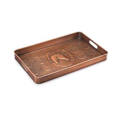 Horse Shoe Multi-Purpose Shoe Tray for Boots, Shoes, Plants, Pet Bowls and More in Copper