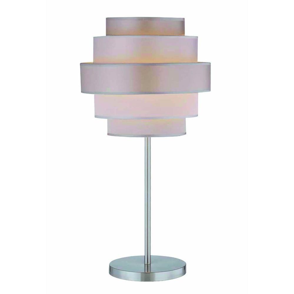 Illumine 1-Light Table Lamp Polished Steel Finish-DISCONTINUED