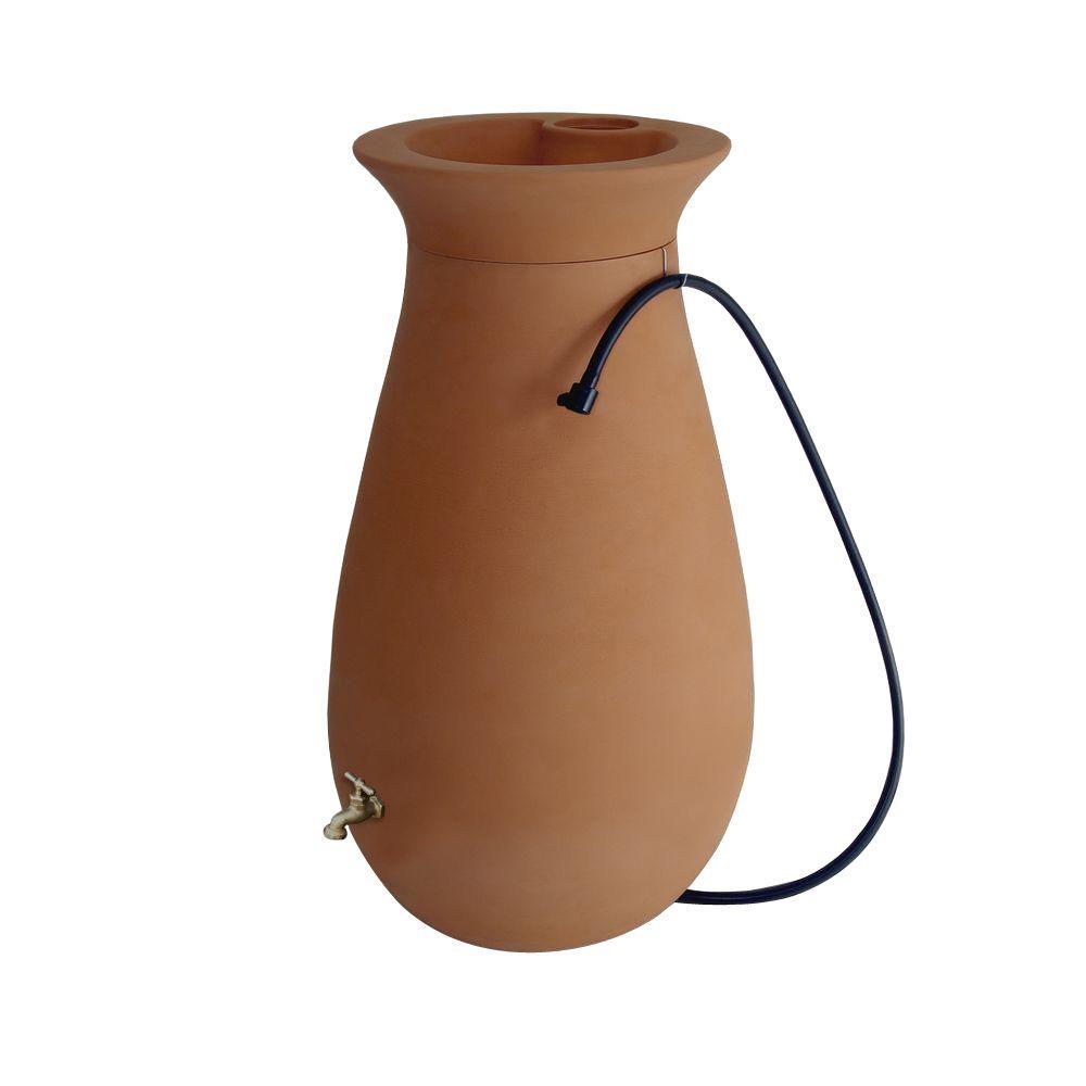 Cascata 65 Gal. Rain Barrel in Terracotta