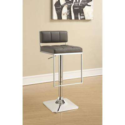 Rec Room Adjustable Grey Low-Back No Arms Bar Stool