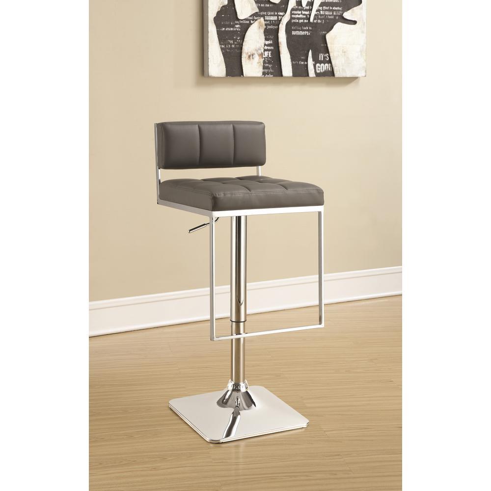 Coaster Rec Room Adjustable Grey Low-Back No Arms Bar Stool 100195
