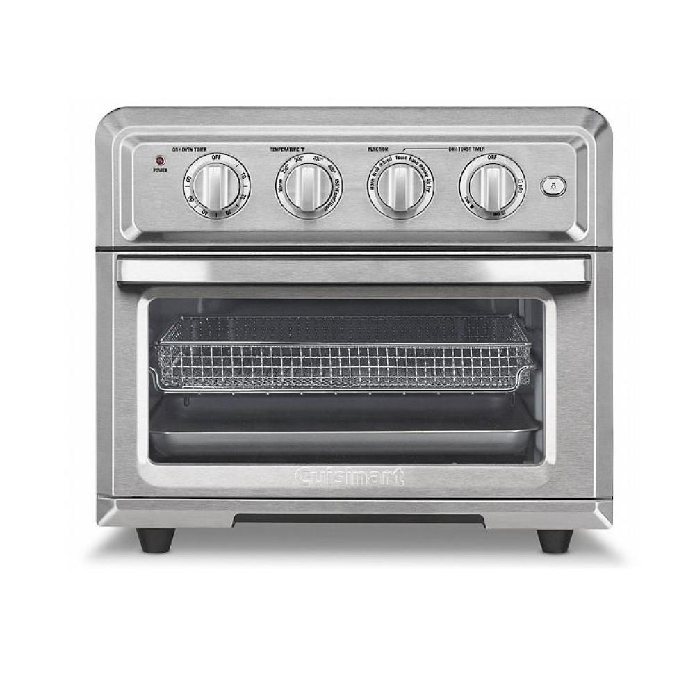 Cuisinart 1800 W 6-Slice Brushed Silver Toaster Oven and Air Fryer TOA-60