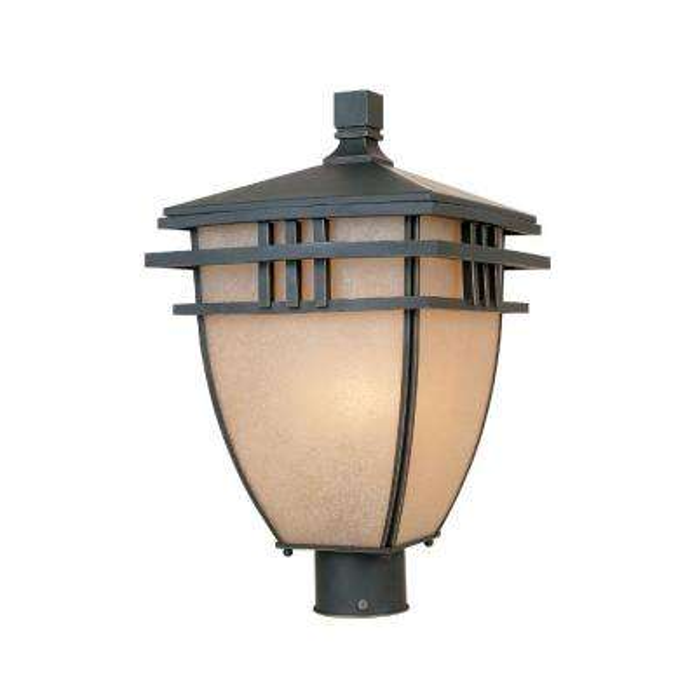 Dayton 3-Light Aged Bronze Patina Outdoor Incandescent Post Lantern