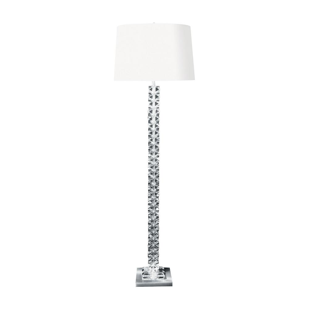 titan lighting 62 in diamond cut crystal floor the home depot