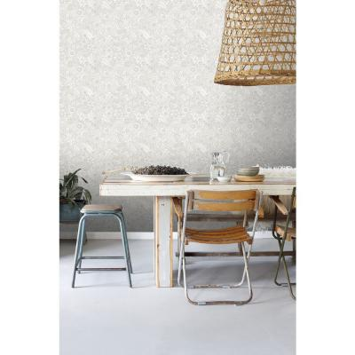 Schunard Off-White Floral Paper Strippable Wallpaper (Covers 56.4 sq. ft.)