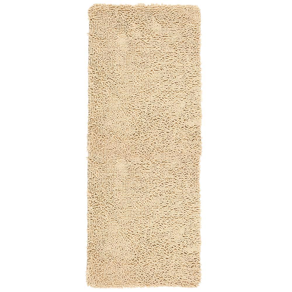 Beige 2 ft. x 5 ft. High Pile Shag Area Rug Carpet