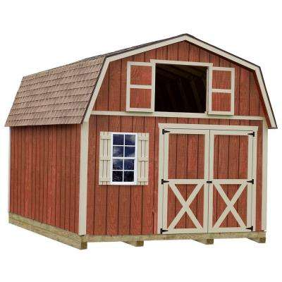 Millcreek 12 ft  x 20 ft  Wood Storage Shed Kit with Floor Including 4 x 4  Runners
