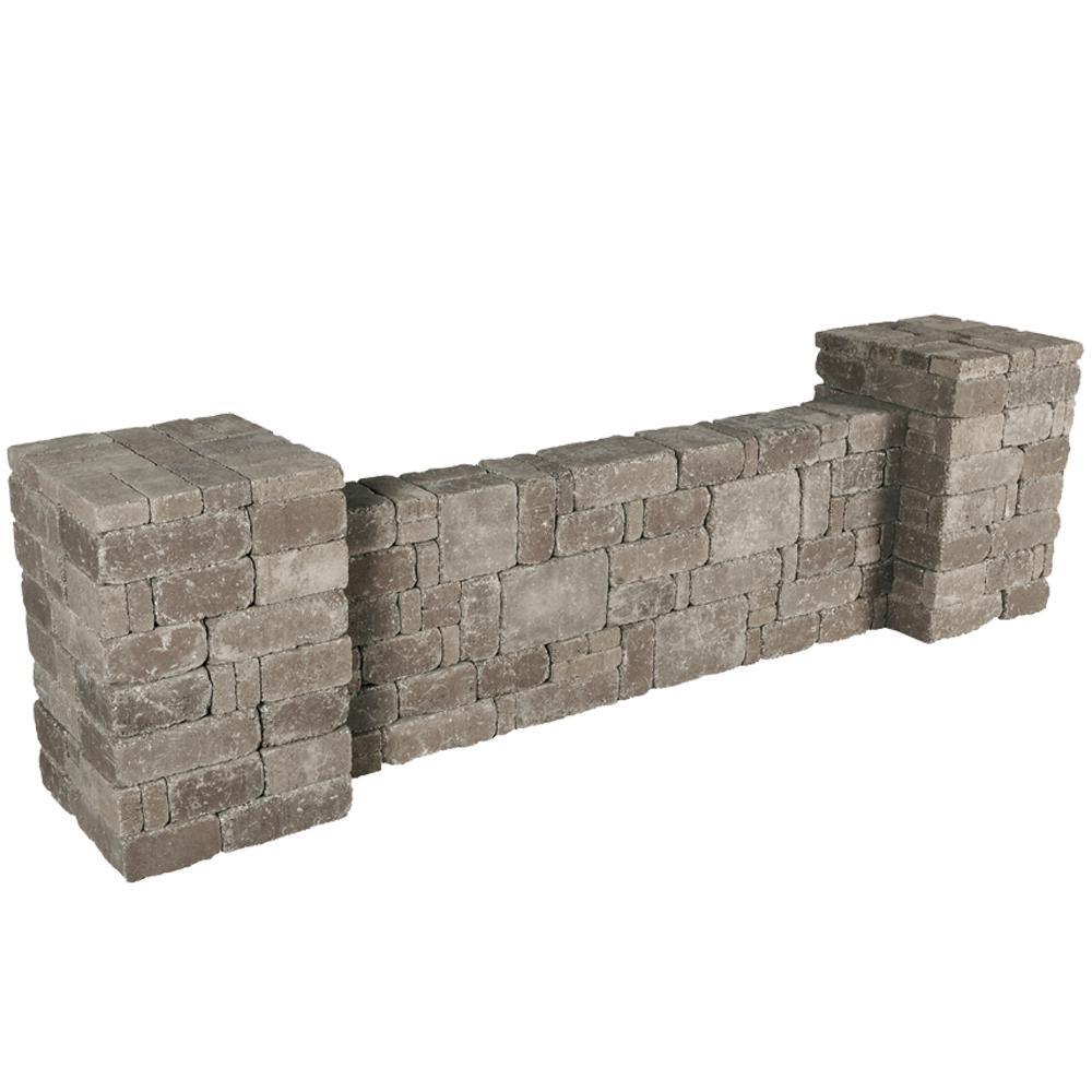 RumbleStone 94.5 in. x 26 in. x 26 in. Column/Wall Kit in Greystone