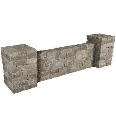 RumbleStone 94.5 in. x 26 in. x 26 in. Column/Wall Kit in Greystone