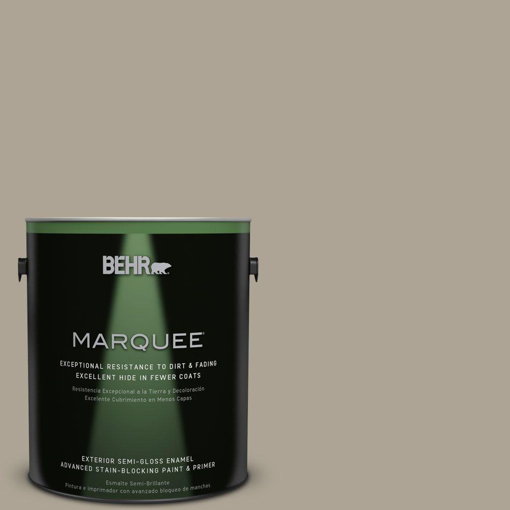 BEHR MARQUEE Home Decorators Collection 1-gal. #HDC-NT-14 Smoked Tan Semi-Gloss Enamel Exterior Paint