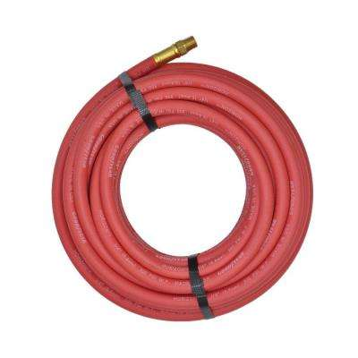 1/4 in. x 50 in. Red Rubber Horizon Male x Male Fittings Hose