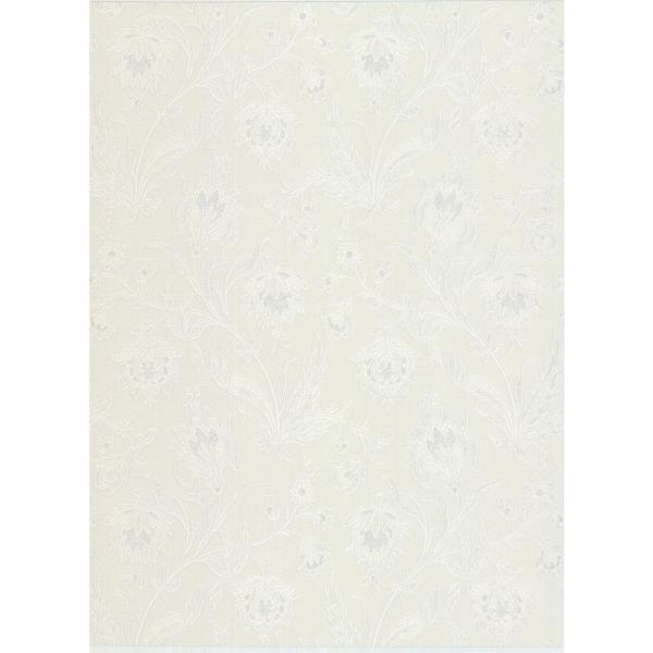 Brewster 8 in. x 10 in. Torcello Platinum Floral Wallpaper Sample