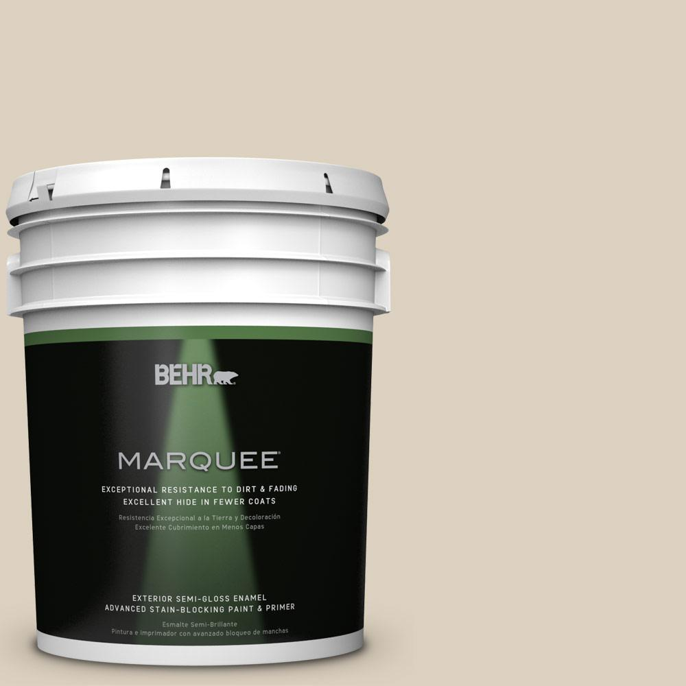 BEHR MARQUEE 5-gal. #OR-W7 Spanish Sand Semi-Gloss Enamel Exterior Paint