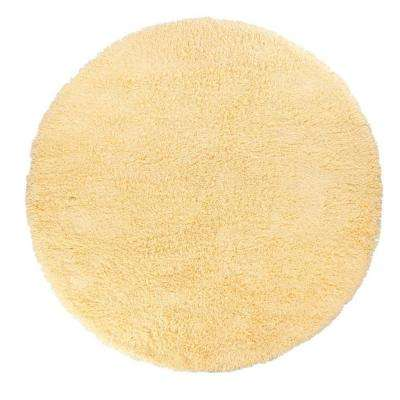 Ultimate Shag Banana Creme 8 ft. Round Area Rug