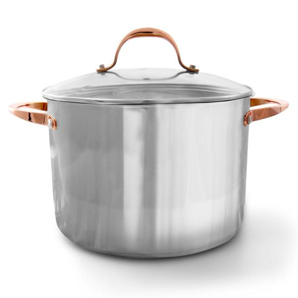Oster Merrick 16 Qt. Stainless Steel Stock Pot with Lid 985112217M