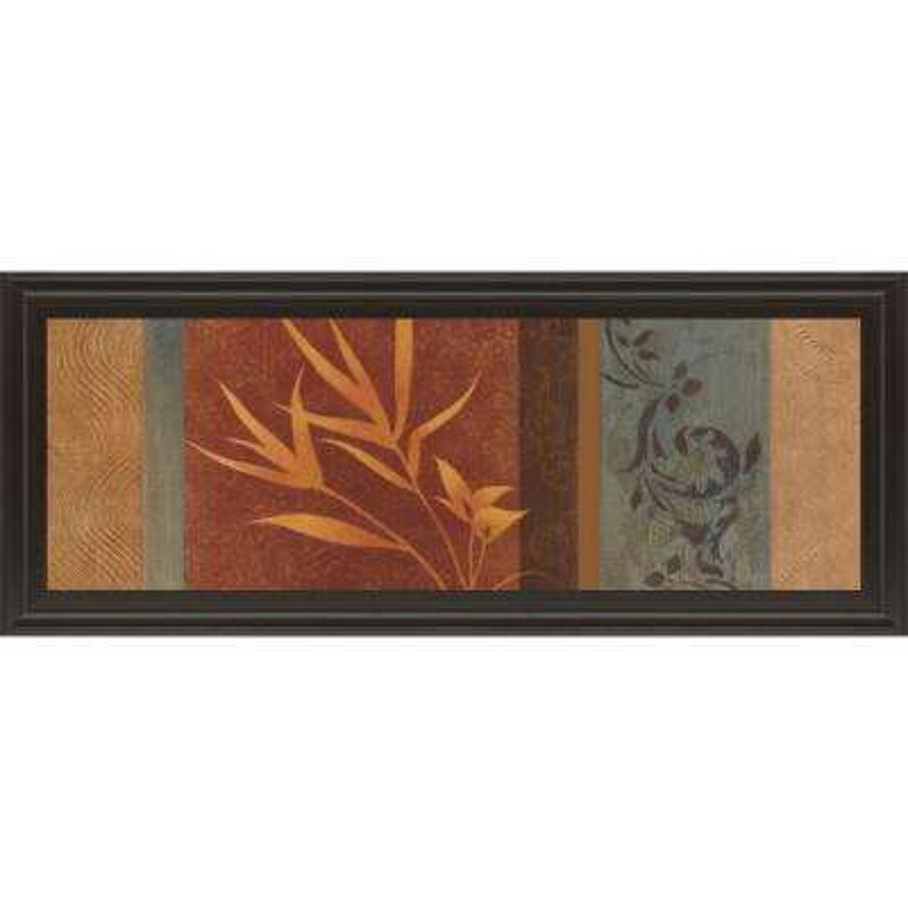 "18 in. x 42 in. ""Leaf Silhouette I"" by Jordan Grey Framed Printed Wall Art"