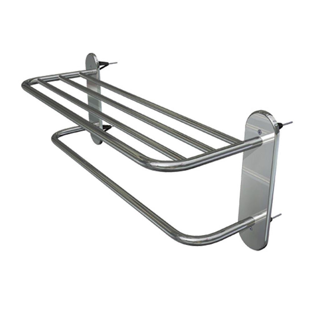 WingIts Master Series 24 in. Towel Rack with 4 Master Anchors in Polished Stainless Steel