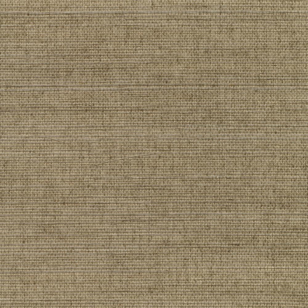 8 In X 10 In Kansu Brown Sisal Grass Cloth Wallpaper Sample