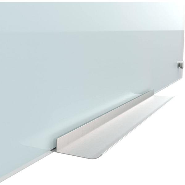 U Brands-35 in. x 23 in. White Frosted Surface Frameless Glass Dry Erase Board