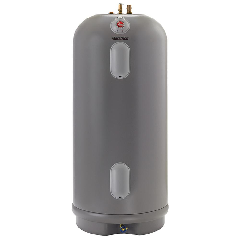 Rheem Commercial Marathon 105 Gal Lifetime 4500 4500 Watt Non Metallic Electric Tank Water Heater Mhd105245 The Home Depot