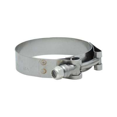 SS T-Bolt Clamps Pack of 2 Size Range: 1.75in to 2.10in O.D. For use with 1.5in I.D. coup
