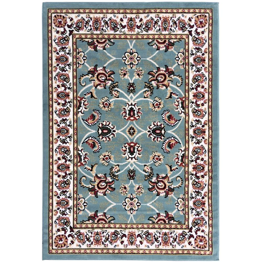 8x10 Sage Area Rug: Ottomanson Paterson Collection Traditional Design Sage