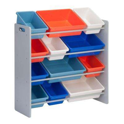 13 in. x 36 in. H Kids Storage Organizer and Toy Sorter