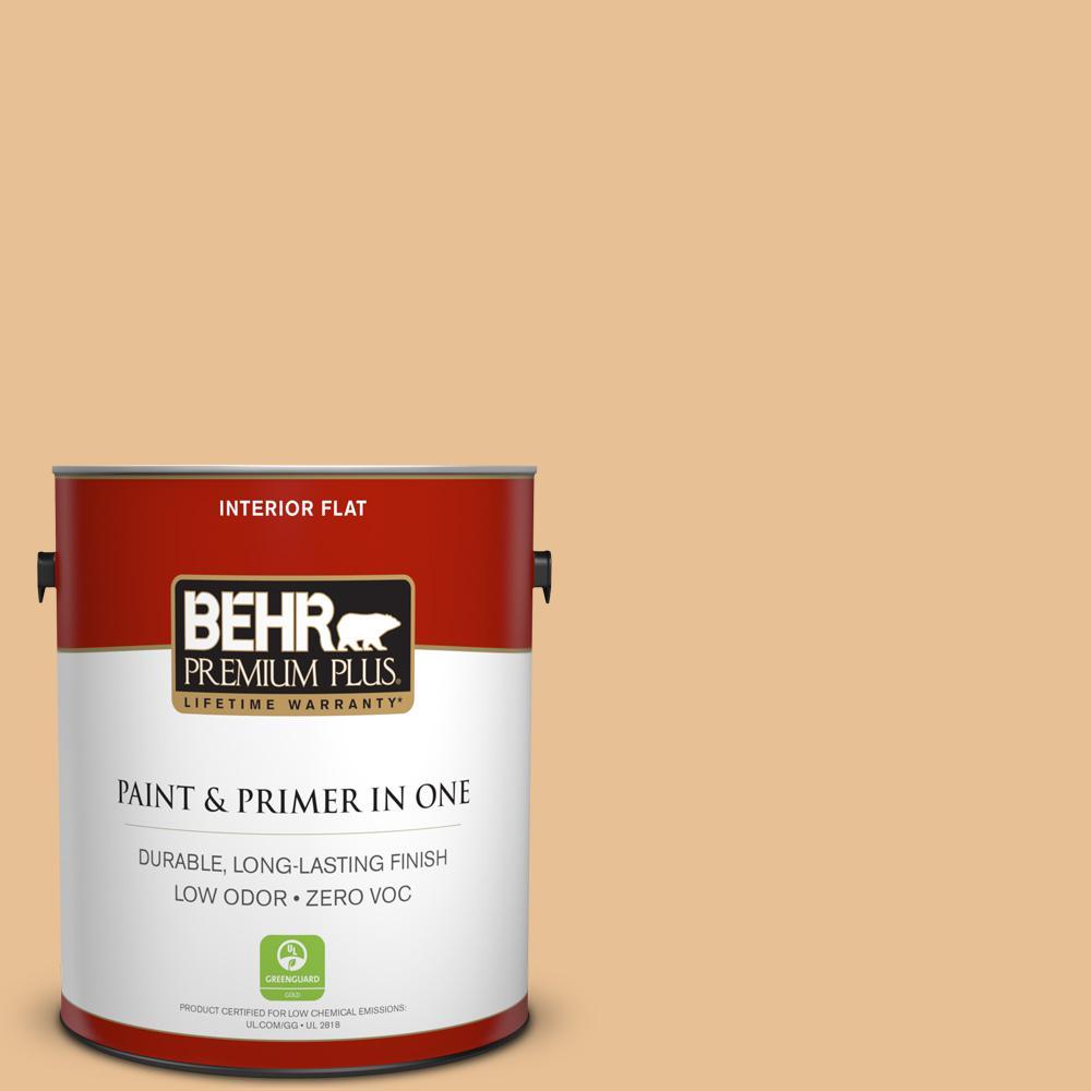 BEHR Premium Plus 1 gal. #M250-3 Apple Turnover Flat Low Odor ...