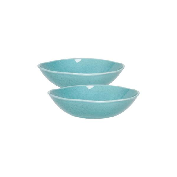 Ryo 54.10 fl. oz. Light Blue Porcelain Salad Bowl (Set of 2)