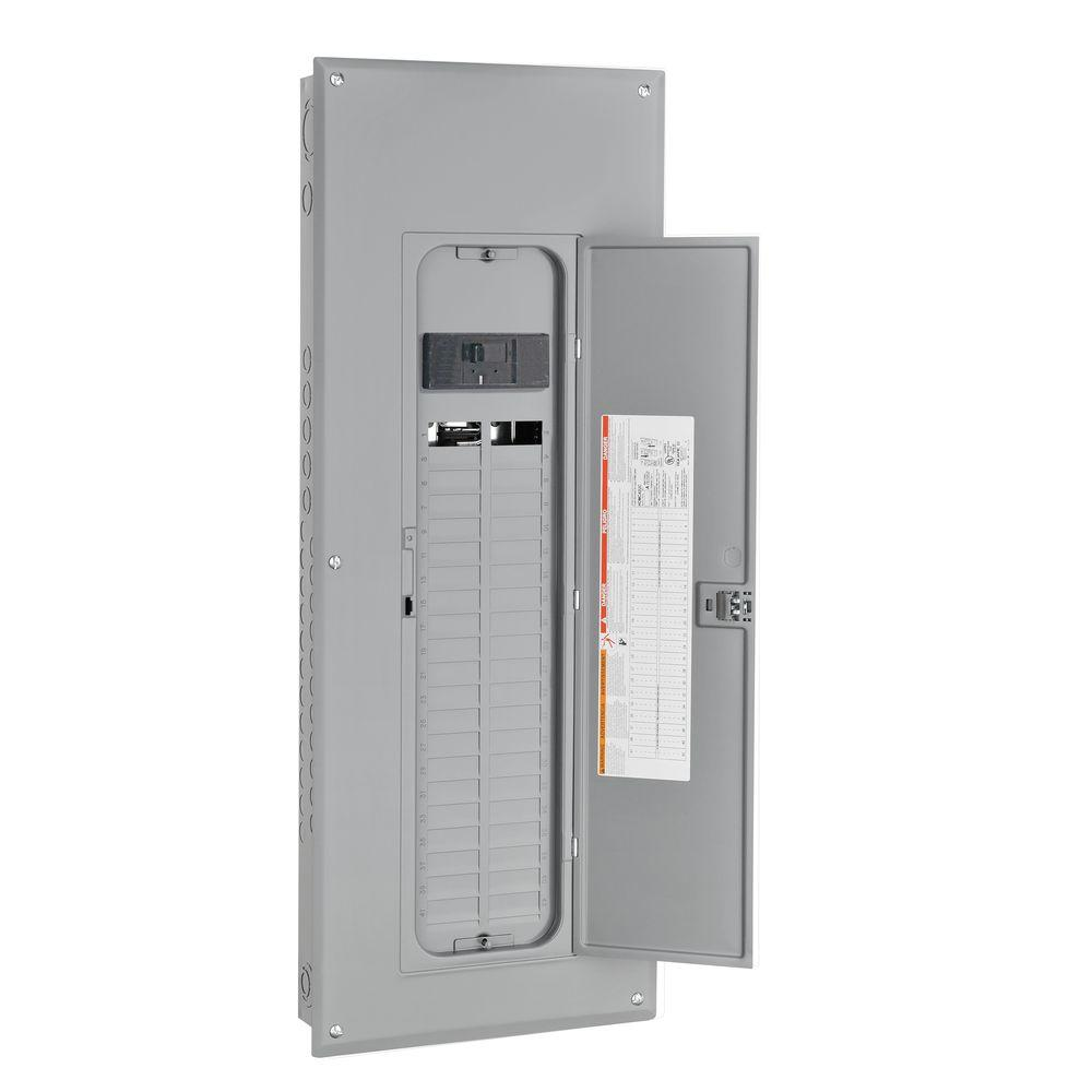Square D Homeline 200 Amp 40-Space 60-Circuit Indoor Main Breaker Load Center with Cover