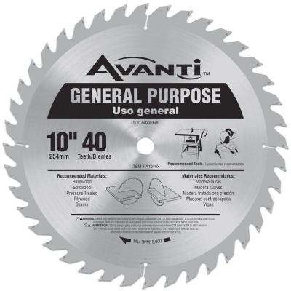 10 in. x 40-Teeth General-Purpose Saw Blade