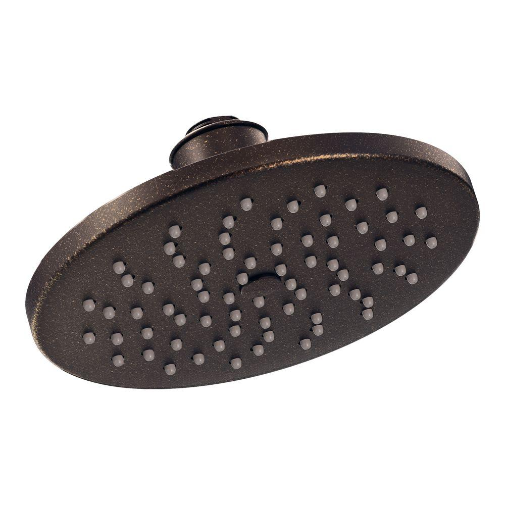 moen rain shower head ceiling. MOEN 1 Spray 8 in  Rainshower Showerhead Featuring Immersion Oil Rubbed Bronze