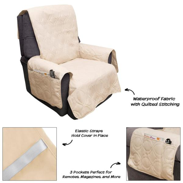 Enjoyable Petmaker Non Slip Tan Waterproof Chair Slipcover M320122 Pabps2019 Chair Design Images Pabps2019Com