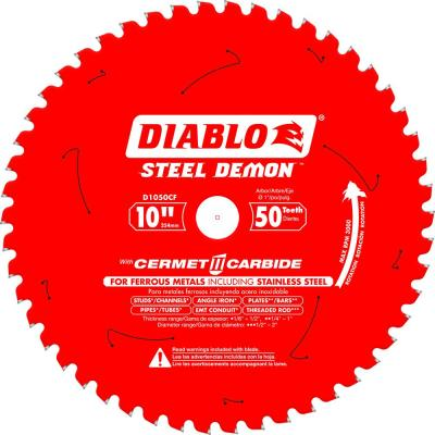 10 in. x 50-Tooth Steel Demon Cermet II Carbide Blade for Ferrous Metals and Stainless Steel