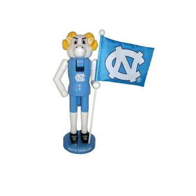 12 in. NC Tarheels Mascot Nutcracker with Flag