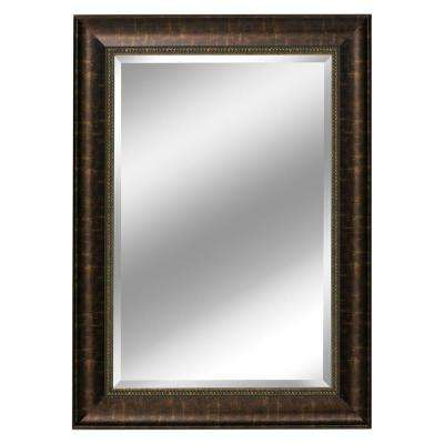 31 in. x 37 in. Embossed Distressed Mirror in Bronze