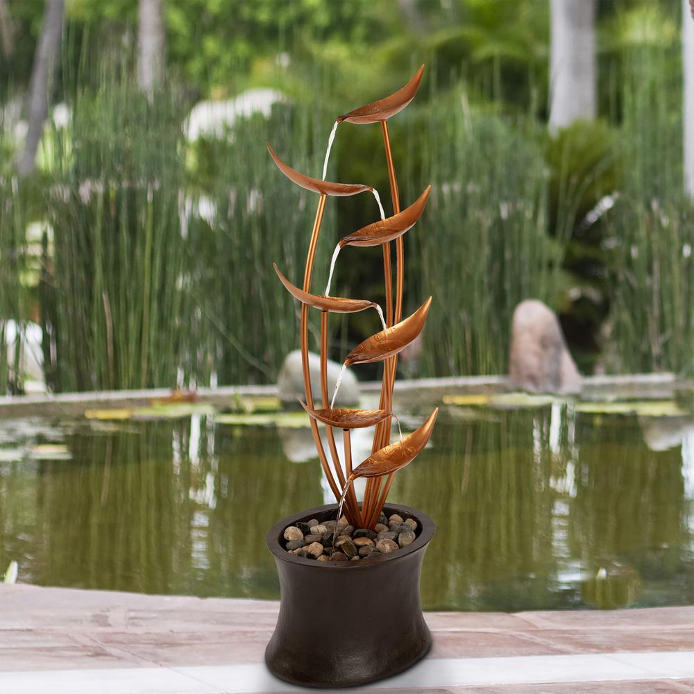 7-Tier Modern Decorative Cascading Outdoor Water Fountain