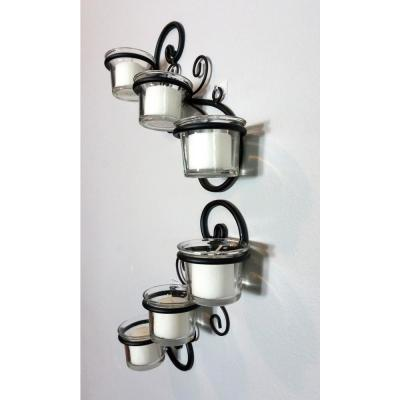 Black Candle Wall Sconce (Set of 2)