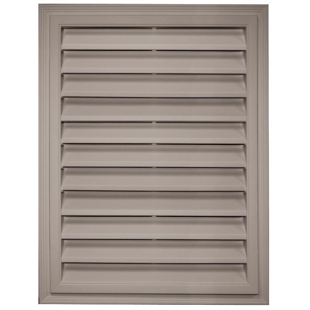 Builders Edge 18 in. x 24 in. Rectangle Gable Vent in Clay